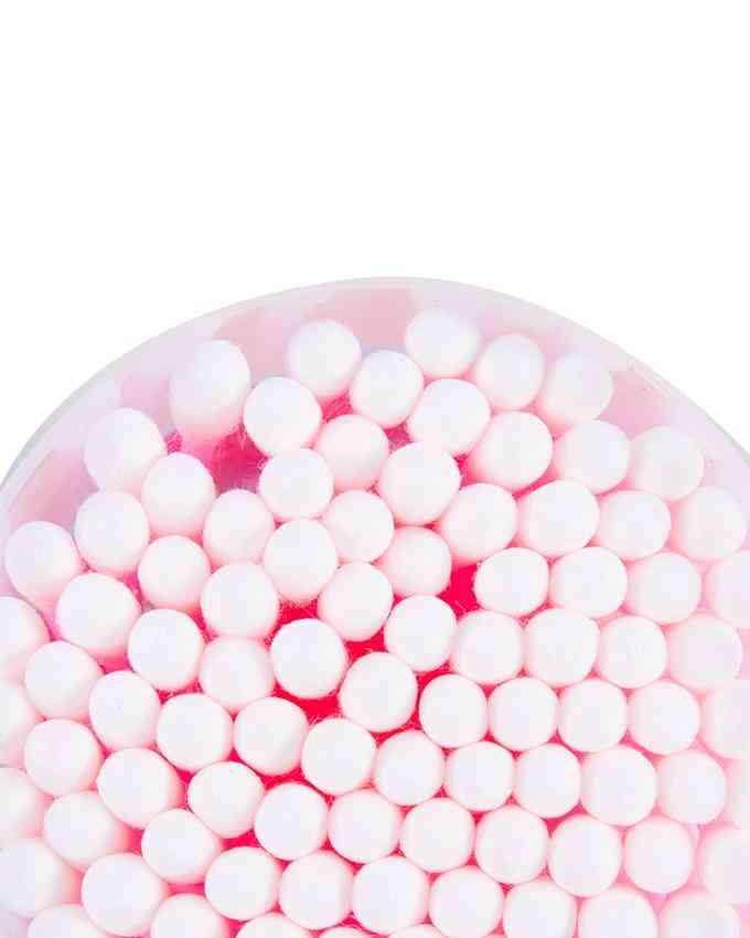 Pack of 100 Cotton Buds Ear Cleaner - Pink