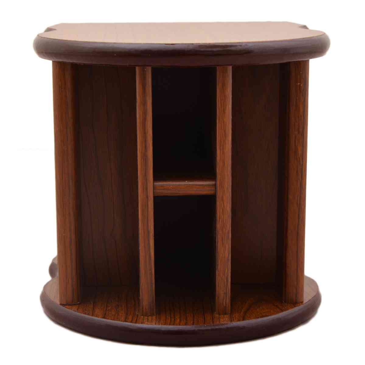 Beautiful Hand Crafted Wooden Stationary Holder (For Offices, Home Use) - Brown