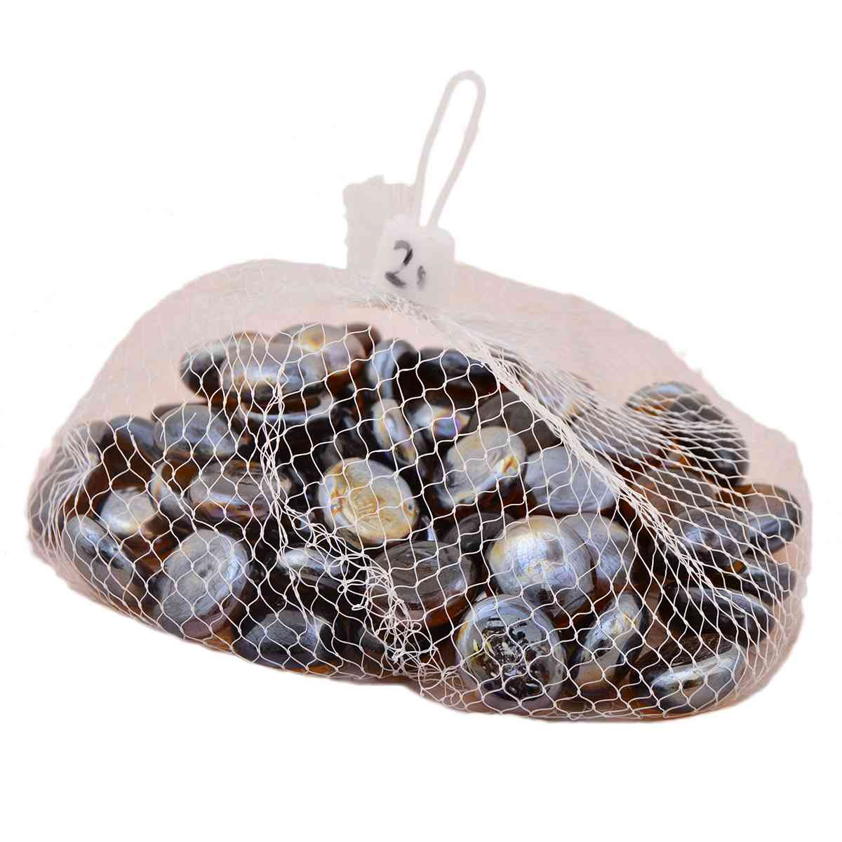 Pack of 200 Marble Beads For Table Decoration (400g, Round) - Black
