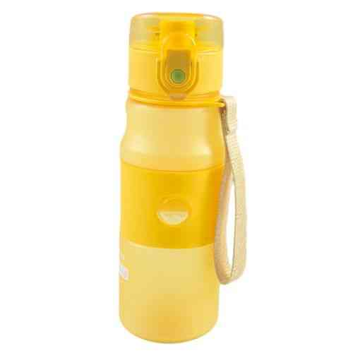 Premium Quality School and Office Water Bottle - Narrow Mouth - PVC Hard Plastic - 550ml - Yellow