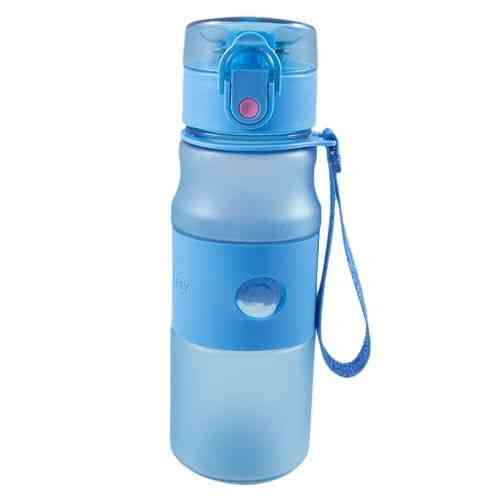 Premium Quality School and Office Water Bottle - Narrow Mouth - PVC Hard Plastic - 550ml - Blue