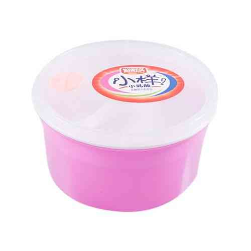 Insulated Food Container 3 Compartments Lunch Box With Spoon - Pink