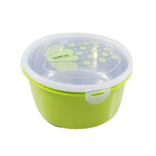 Insulated Heavy Duty Food Container Lunch Box With Steel Bowl Inside and Spoon - Green