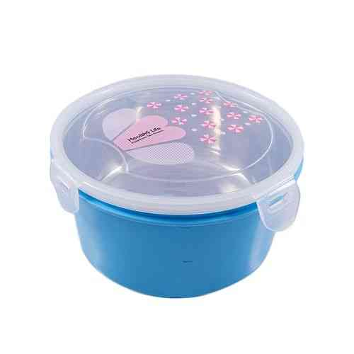 Insulated Heavy Duty Food Container Lunch Box With Steel Bowl Inside and Spoon - Blue