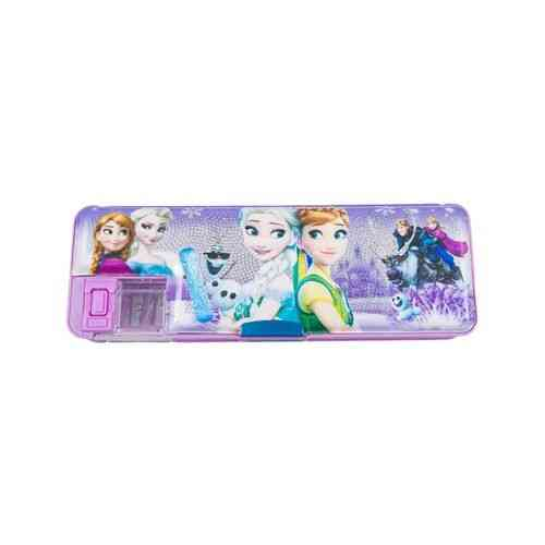 Frozen Pencil Box Stationery Box With Pencil Sharpener - 8 Inch - Purple