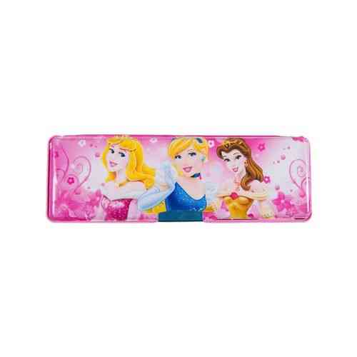 Barbie Girls Embossed Pencil Box Stationery Box With Embossed Pencil Sharpener - 8 Inch - Pink