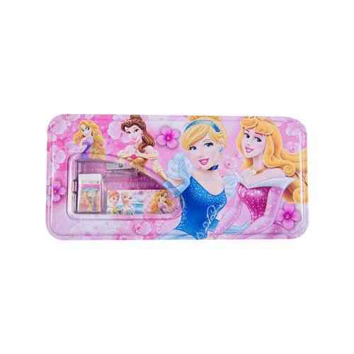 Pack of 6 - Pencil Box Stationery Box With Complete Accessories - 8x4 Inch - Barbie