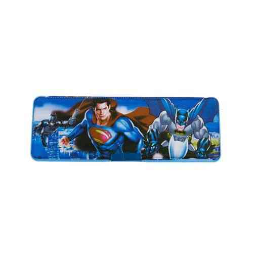 Pack of 2 - Pencil Box Stationery Box With Pencil Sharpener - 9x3 Inch - Superman