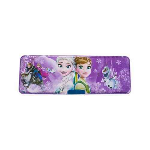 Pack of 2 - Pencil Box Stationery Box With Pencil Sharpener - 9x3 Inch - Frozen