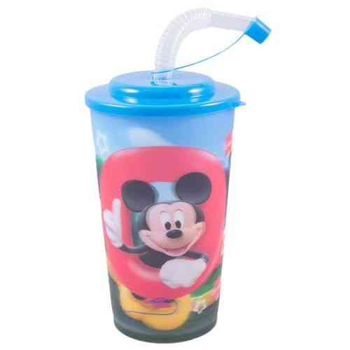 Beverage Water Cold Drink Soft Drink Drinking Cup Travel Cup With Straw - 6 Inch - Mickey Mouse