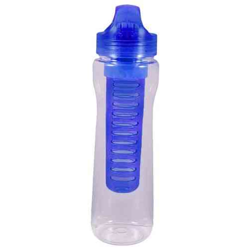 Plastic Water Bottle With Ice Bar - Good Quality - Blue