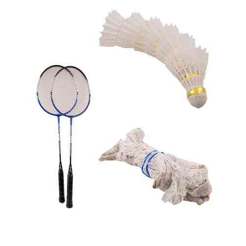 Pack of 8 - Badminton Set (High Quality Rackets + Badminton Net + 6 Shuttle Cocks)