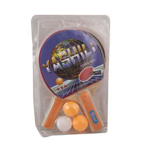 Pack of 2 Table Tennis Rackets With 3 Balls