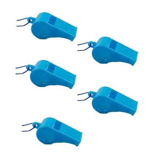 Pack of 5 - Whistle With Rope - Blue