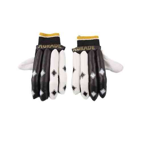 AGRADE Gloves For Hard Ball Cricket With Thumb Protection - Black