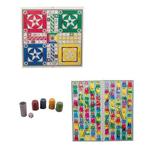 "Tom And Jerry Ludo Game 2 Sided Games - 24X24"" - With Goti Pack"