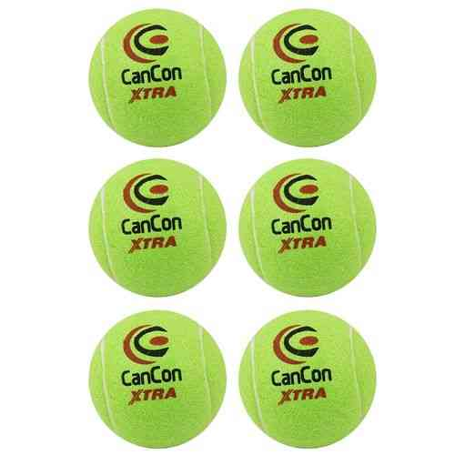 Pack of 6 Original Cancon Extra Tennis Balls Practice Balls for Tennis Cricket and Hockey