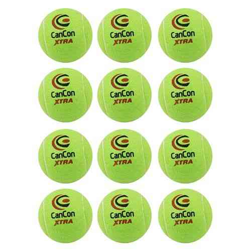 Pack of 12 Original Cancon Extra Tennis Balls Practice Balls for Tennis Cricket and Hockey