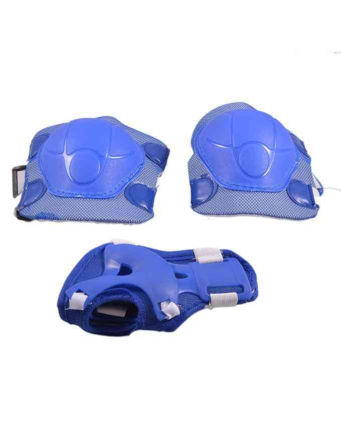 Soft Adjustable Knee Protection Pads for Skating Football etc  (High Quality) - Blue