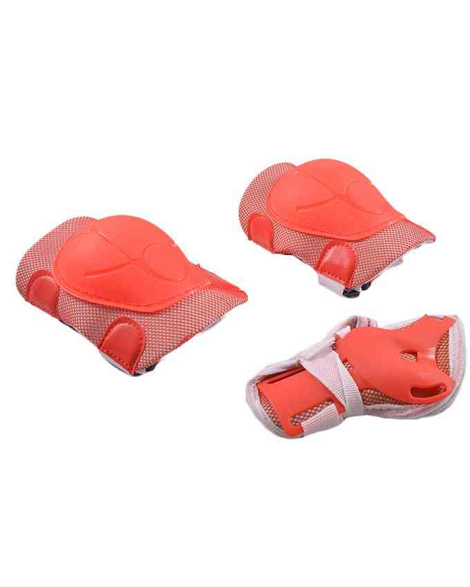 Soft Adjustable Knee Protection Pads for Skating Football etc  (High Quality) - Red