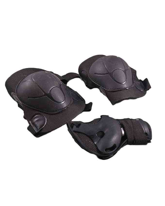 Soft Adjustable Knee Protection Pads for Skating Football etc  (High Quality) - Black