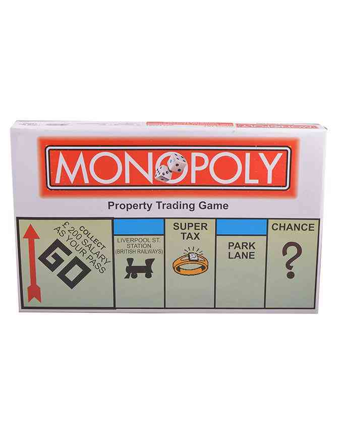 Small Size Monopoly Property Learning Game for Kids (14x9 Inch Packaging)