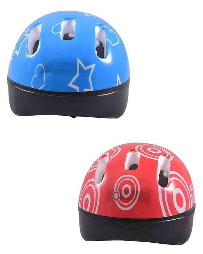 Pack of 2 Head Protection Helmet for Skating Games - High Quality (For 10-15 Age) - Multicolour - (SP-259-260)