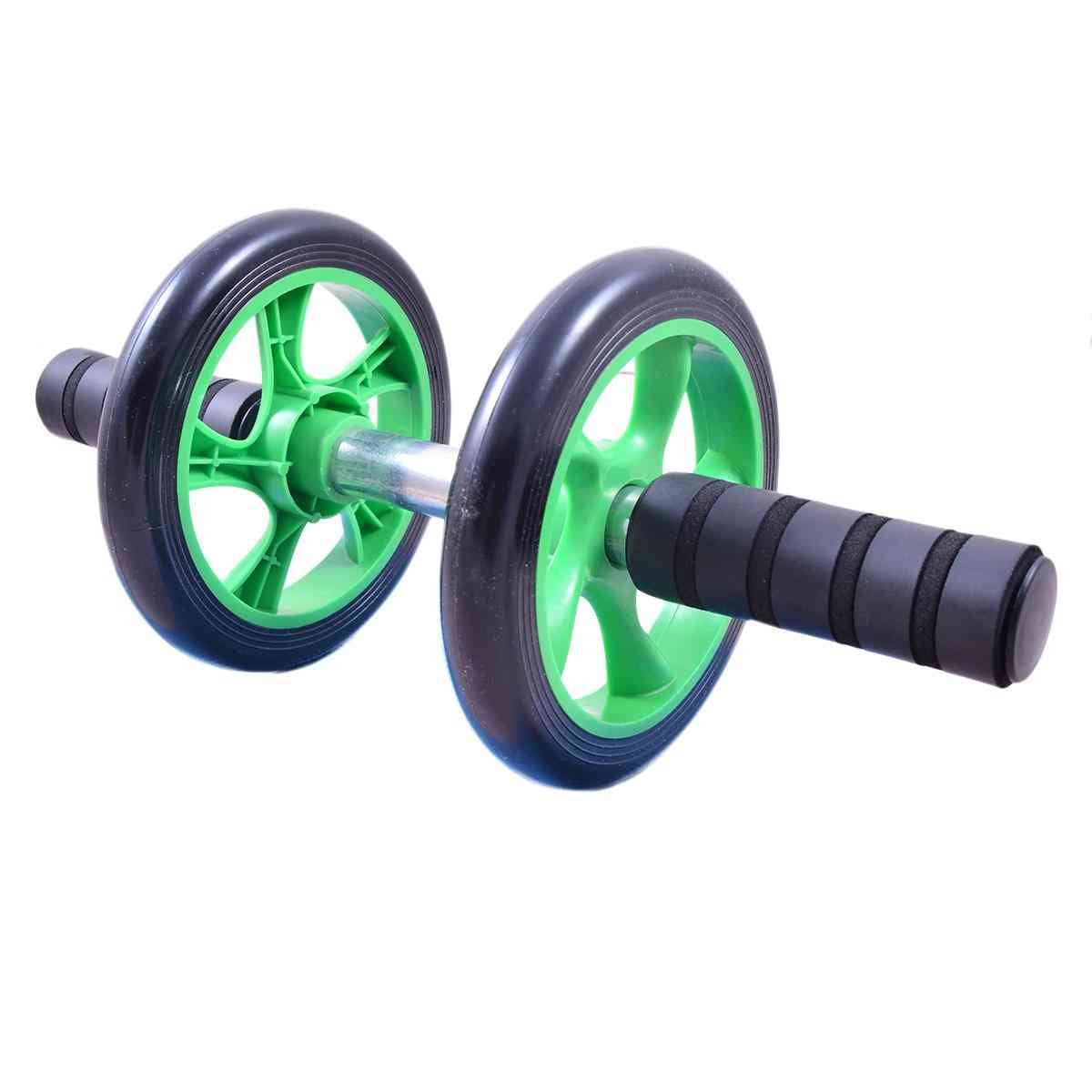 Double Wheels Abdominal Roller (For Arms and Shoulders and and Back and Trims and Tones Waistline)