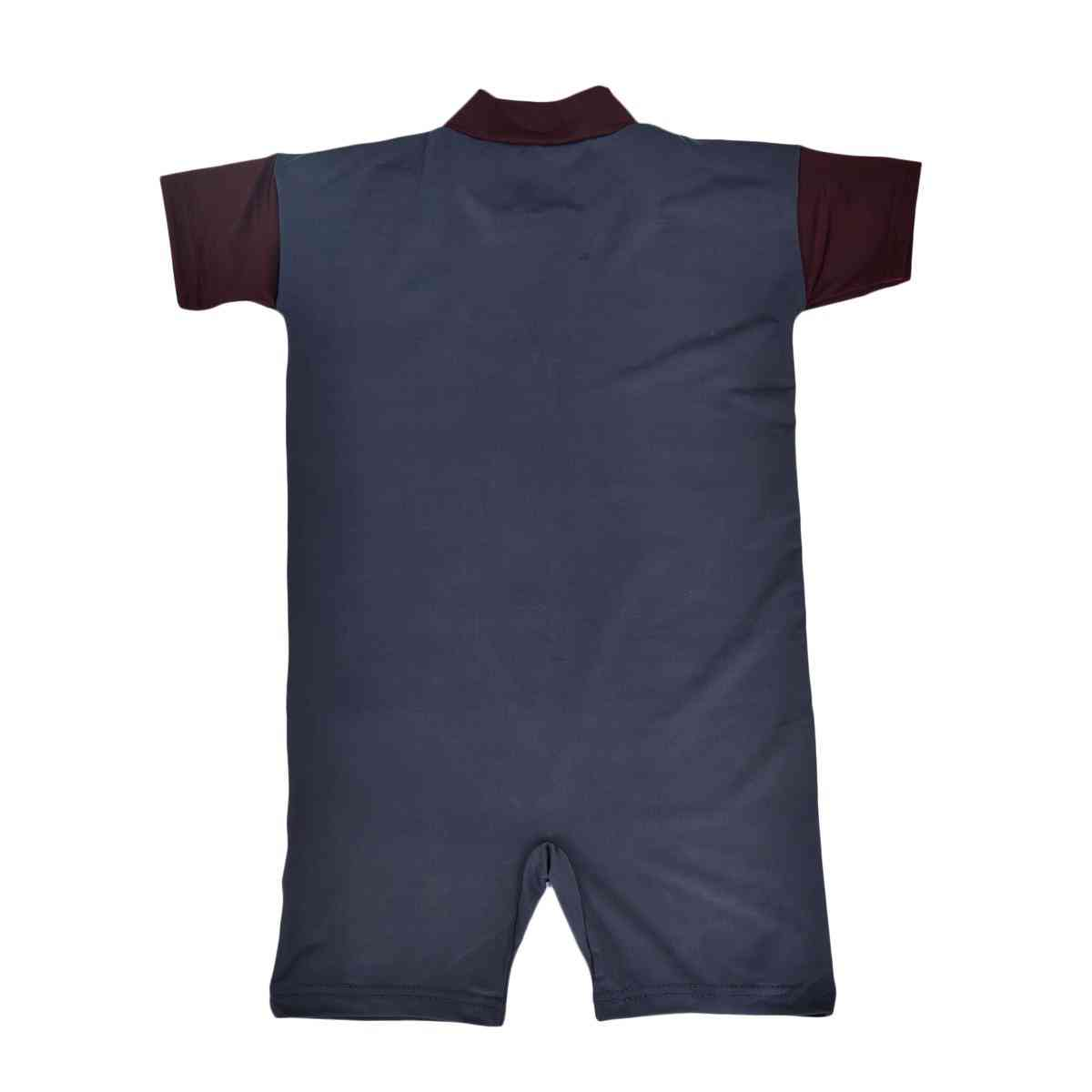 Half Zipper Swimsuit for Boys (Good Quality and Elastic Material and Parachute Fabric)