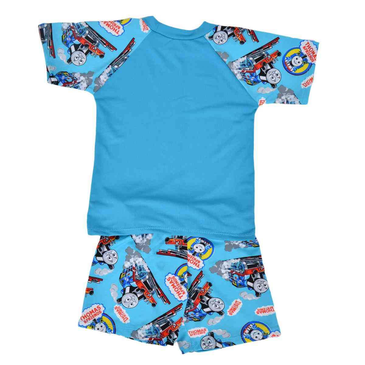 Thomas Train Swimming Suit for Kids - Sky Blue (3 to 4 Years)