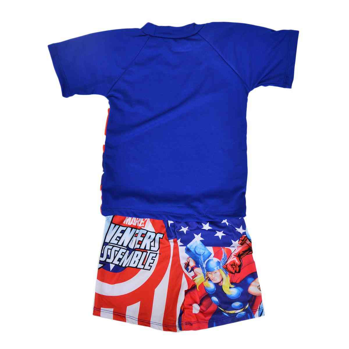 Captain America Swimming Suit for Boys - Blue (2 to 3 Years)