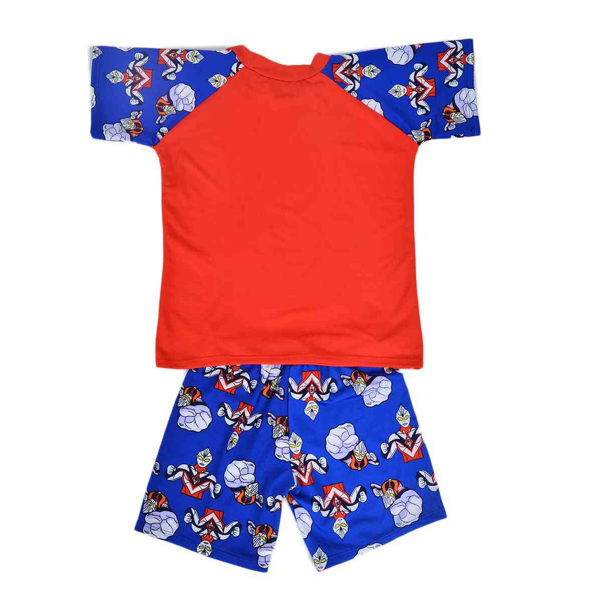 Aoteman Swimming Suit for Boys - Red (4 to 5 Years)