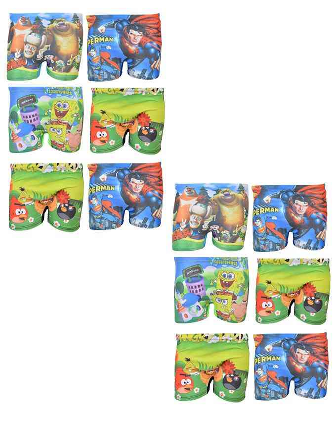 Pack of 12 Multicolour Mini Swimming Shorts for Kids (for 2-4 Year Kids)