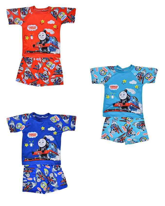 Pack of 3 Cartoon Character Swimming Suit for Boys - Multicolor (3 to 4 Years)