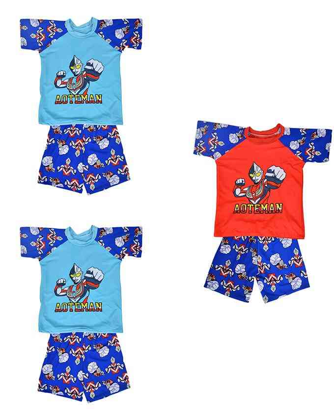 Pack of 3 Cartoon Character Swimming Suit for Boys - Multicolor (4 to 5 Years)