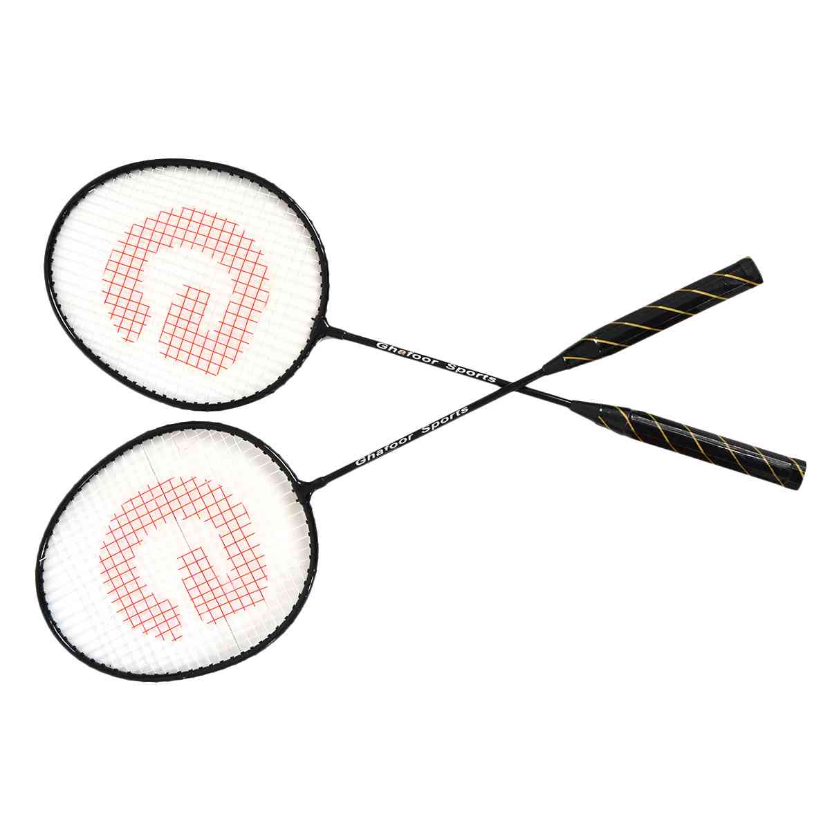 2 Pcs Good Quality Badminton Rackets with Bag (With Joint, 25 Inch Length)