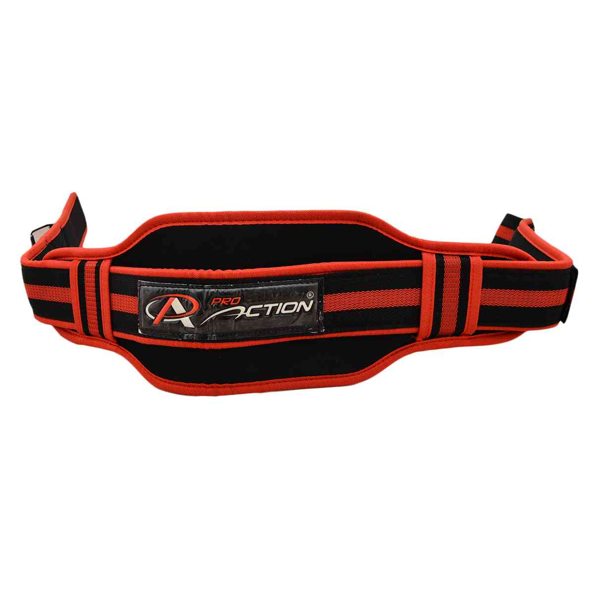 Pro Action Weight Lifting Gym Fitness Power Belt Back Pain Support Belt - Red