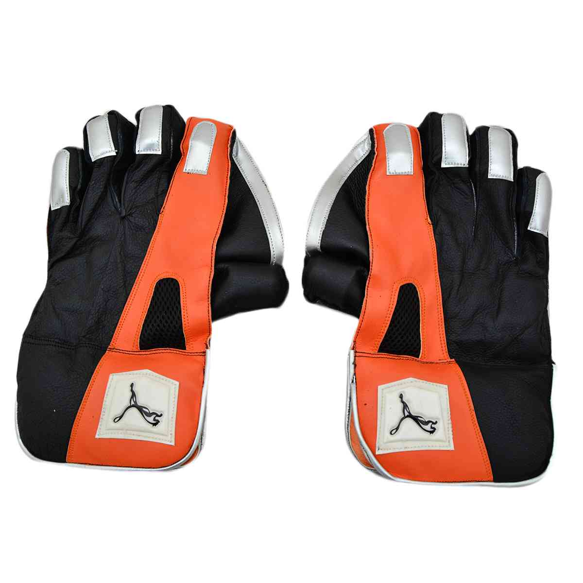 2 Pcs Puma Football Goal Keeper Gloves - Black
