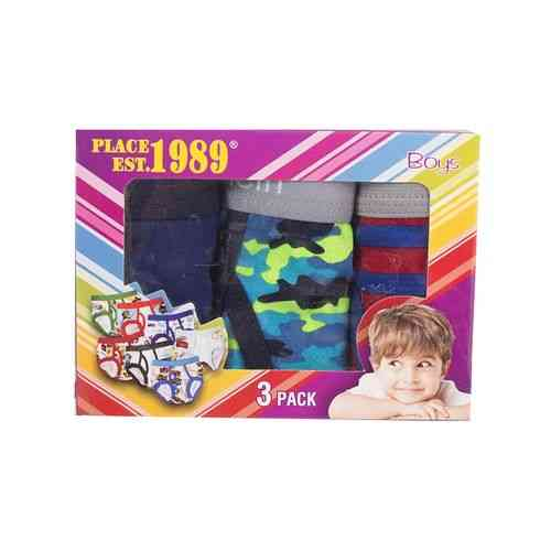 Pack of 3 Boys Kids Underwear - Extra Small - Multicolour