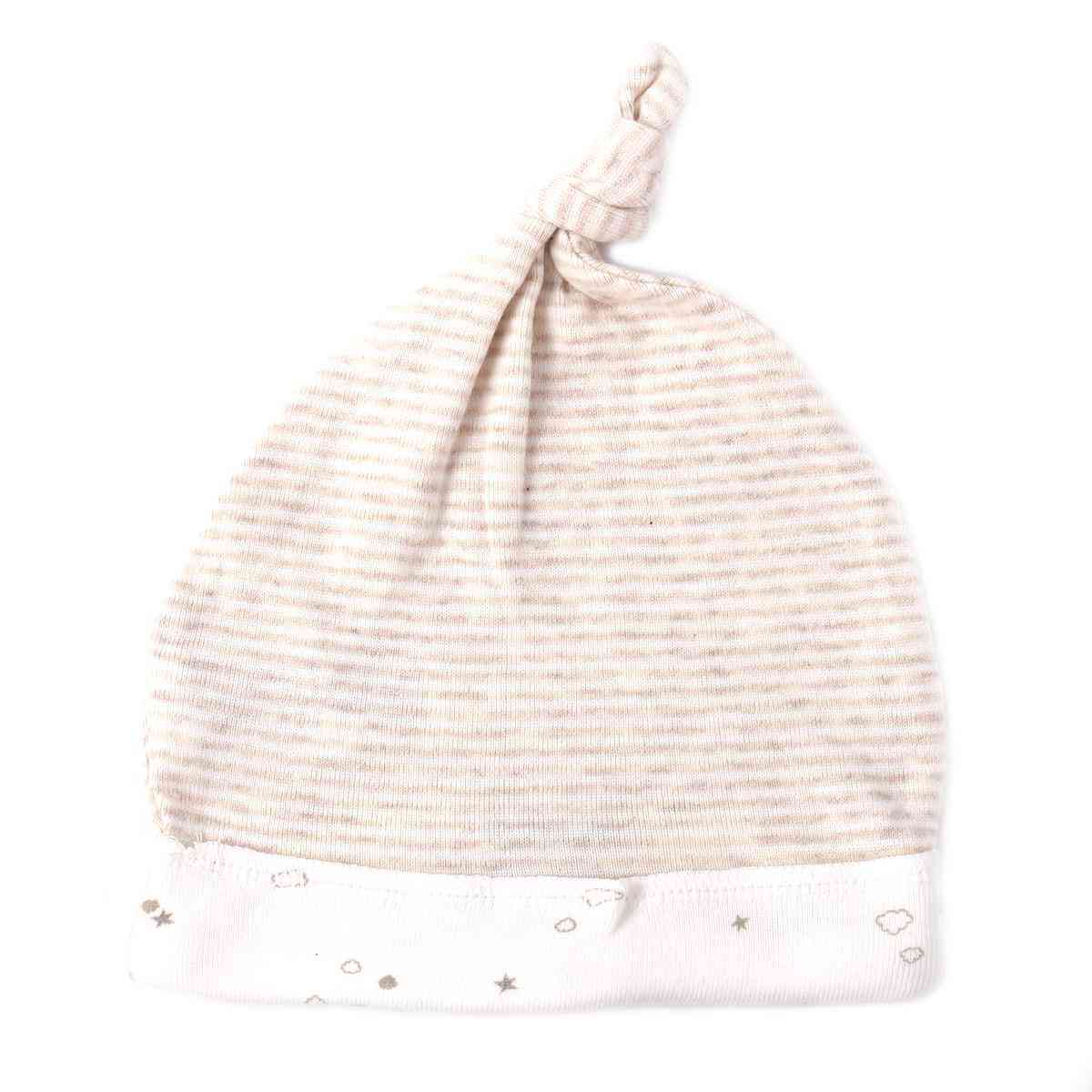 Asaan Bachpan Baby Cap for 0 - 6 Month Baby  Blue & Brown