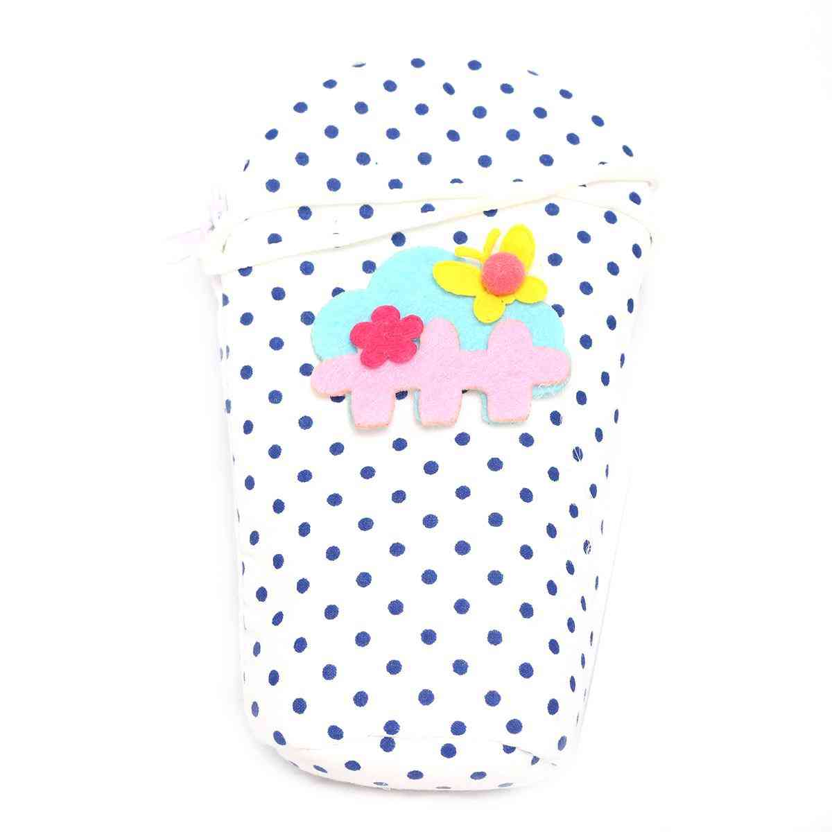 Vitamin Baby Cartoon Character 7x4 Inches Feeder Cover for Feeder Bottle with String  Blue & Blue