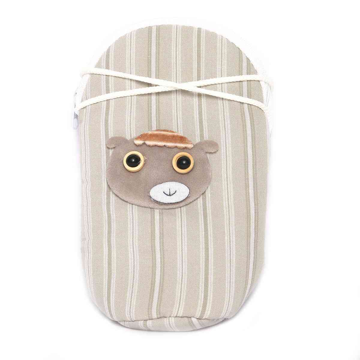 Vitamin Baby Cartoon Character 7x4 Inches Feeder Cover for Feeder Bottle with String  Gray
