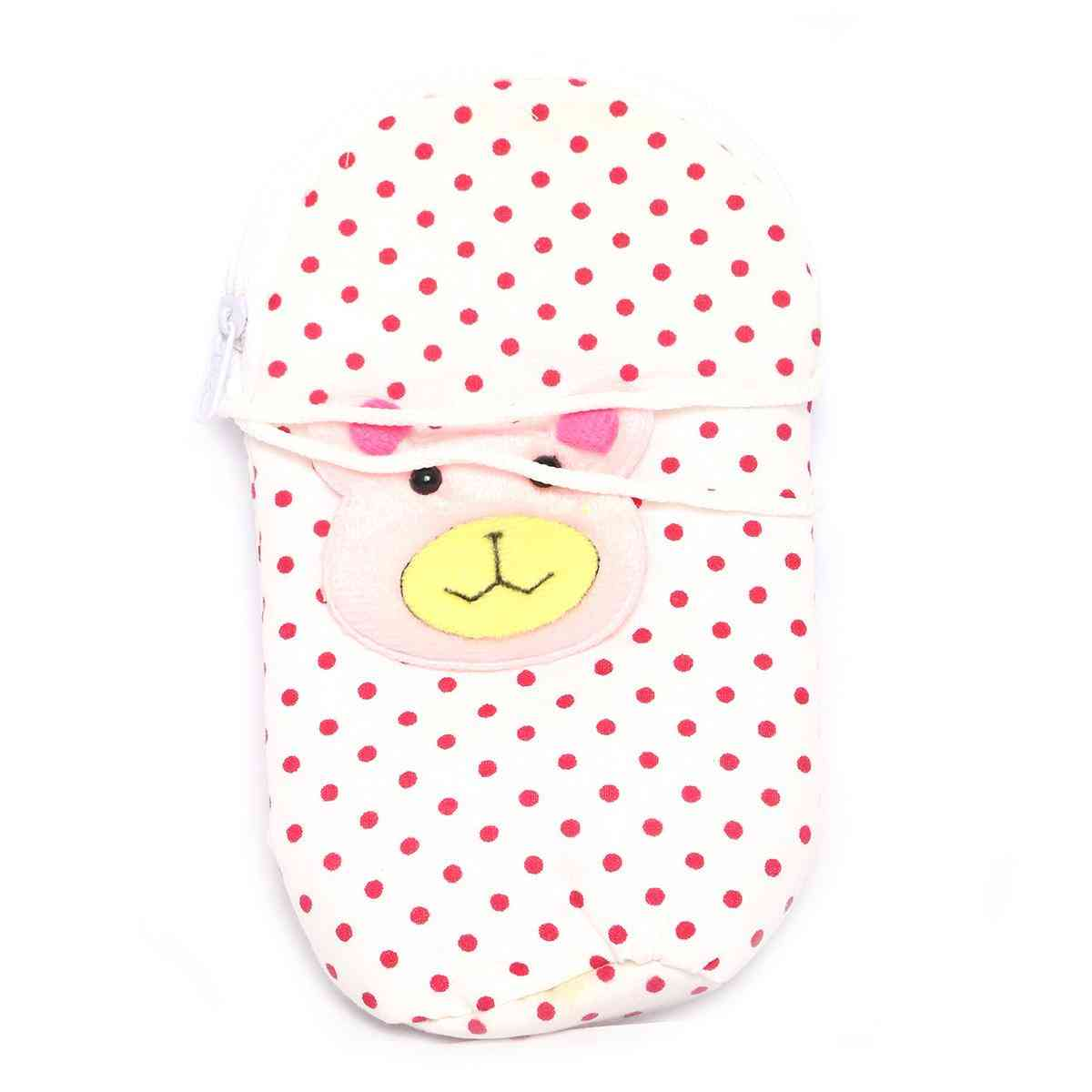 Vitamin Baby Cartoon Character 7x4 Inches Feeder Cover for Feeder Bottle with String  Blue