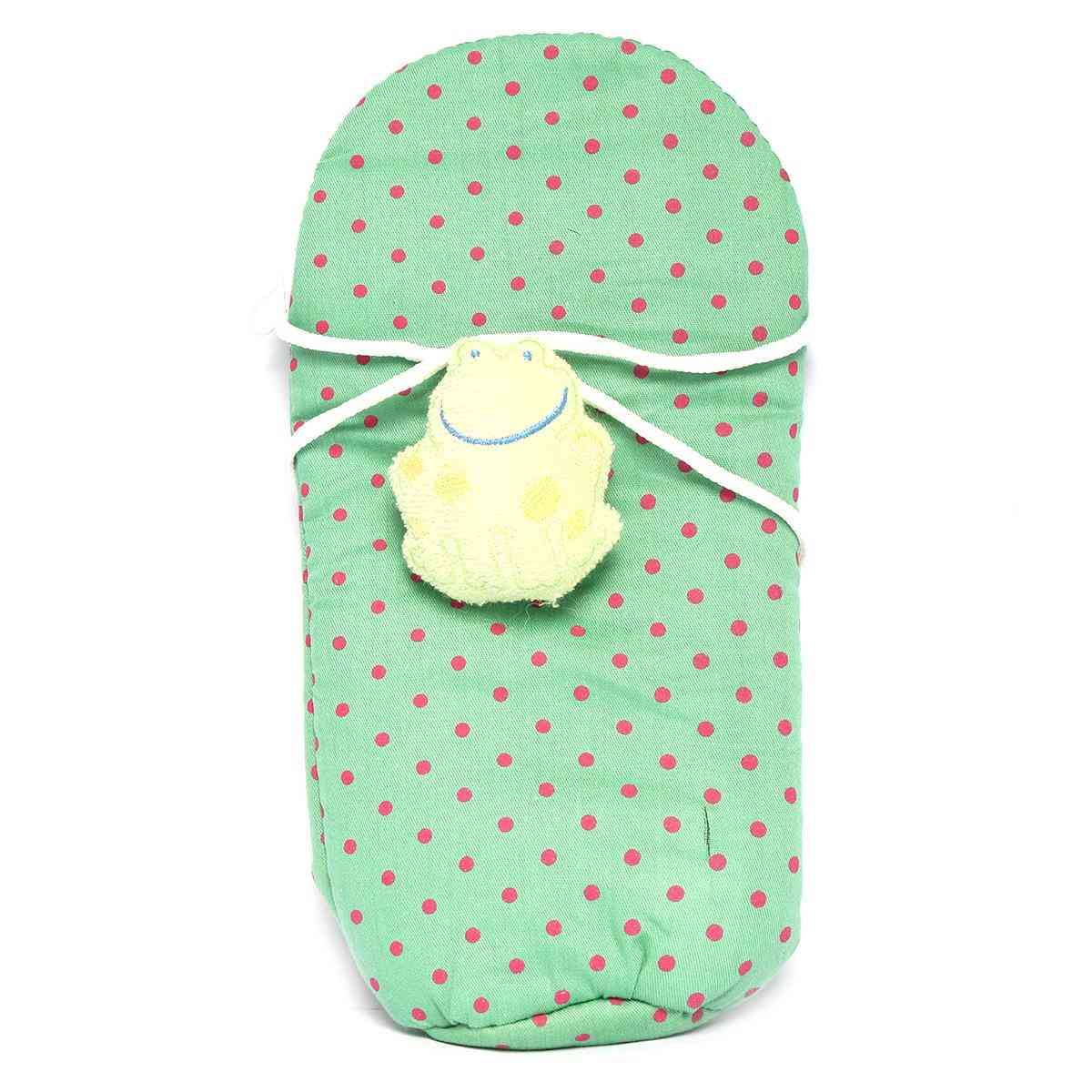 Vitamin Baby Cartoon Character 9x4 Inches Feeder Cover for Feeder Bottle with String  Green