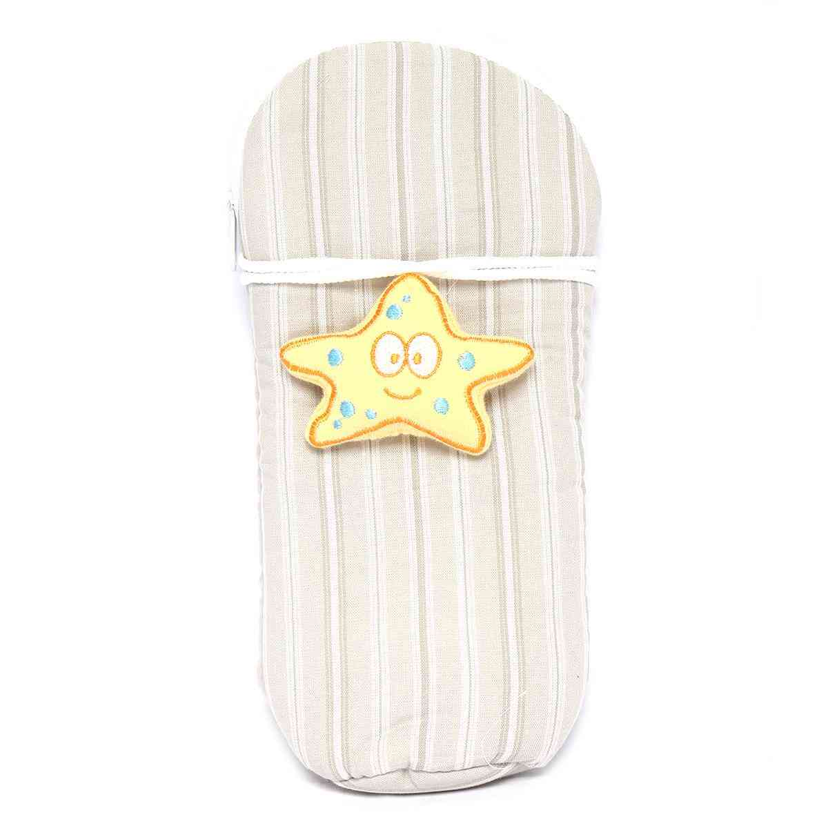 Vitamin Baby Cartoon Character 9x4 Inches Feeder Cover for Feeder Bottle with String  Gray