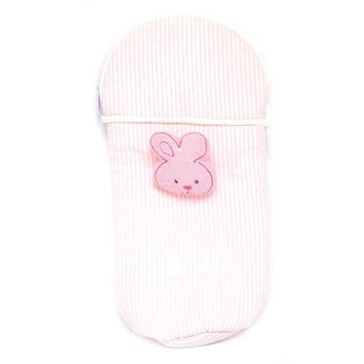 Vitamin Baby Cartoon Character 9x4 Inches Feeder Cover for Feeder Bottle with String  Pink