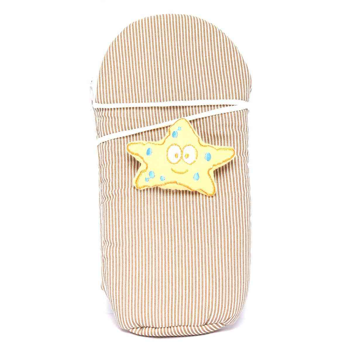 Vitamin Baby Cartoon Character 9x4 Inches Feeder Cover for Feeder Bottle with String  Brown