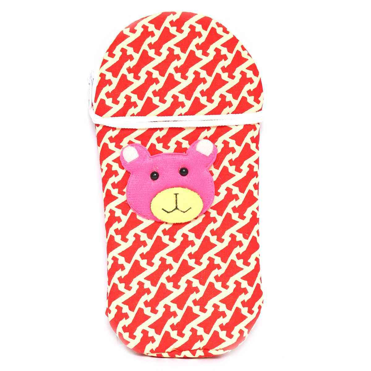 Vitamin Baby Cartoon Character 9x4 Inches Feeder Cover for Feeder Bottle with String  Red
