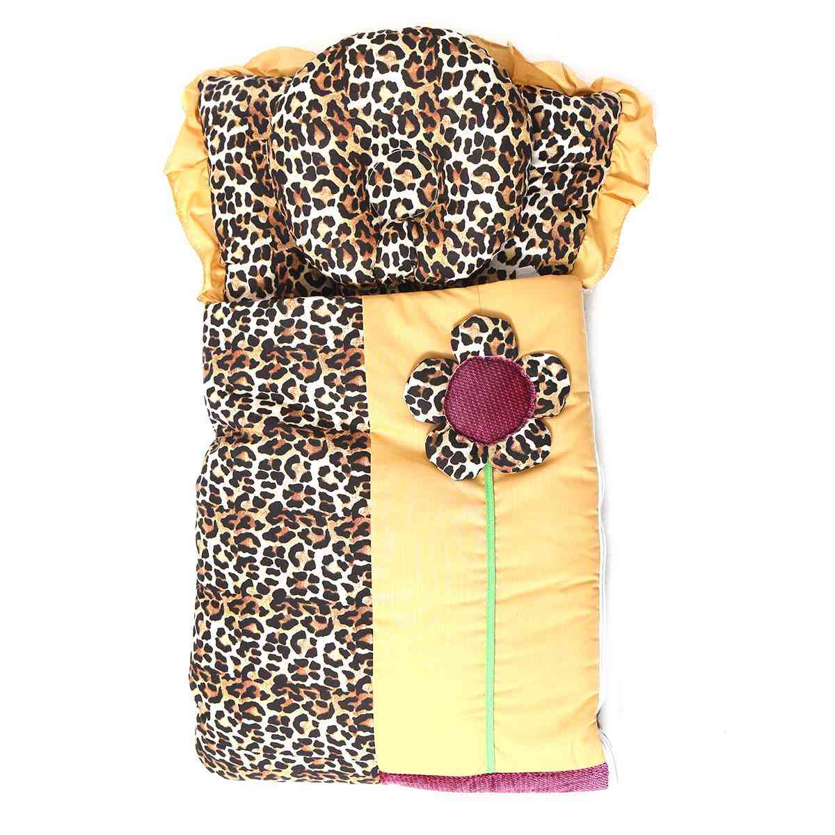 Pack of 2 Zipper Baby Carrying Bed Set with Pillow for Newborns (26x15 Inch)  Cheetah Print