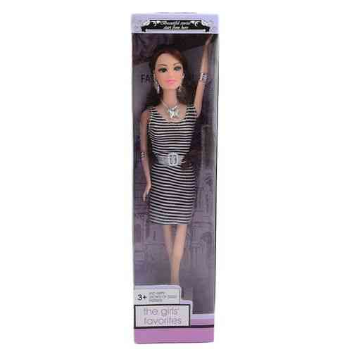 Cute Doll For Her - 13 Inch - White And Black